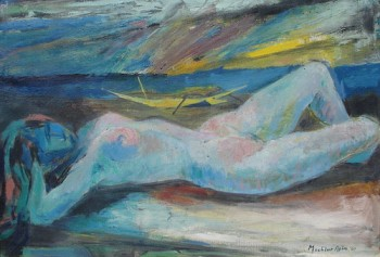 Reclining Nude At The Beach
