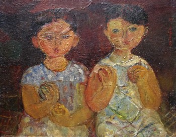 Two Children Carrying Fruit