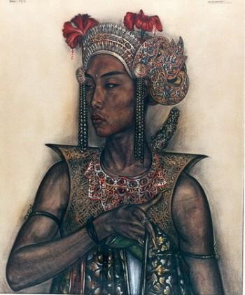 Balinese Actor as Radja In